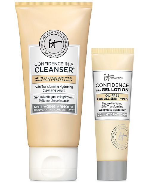 IT Cosmetics 2-Pc. Confidence Confidants Transforming, Cleansing & Hydrating Skincare Set, a $28 value!