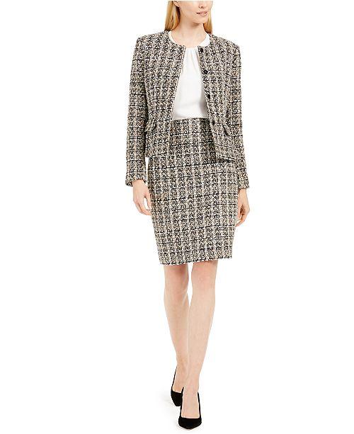 Calvin Klein Tweed Jacket, Woven Top & Tweed Skirt