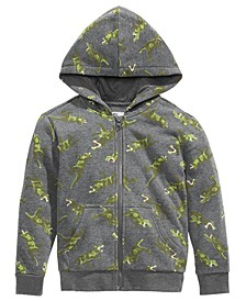 Toddler Boys Dinosaur-Print Zip-Up Hoodie, Created For Macy's