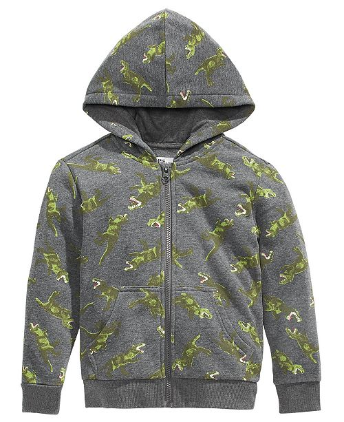 Epic Threads Toddler Boys Dinosaur-Print Zip-Up Hoodie, Created For Macy's
