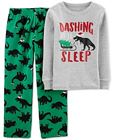 Little & Big Boys 2-Pc. Holiday Dino Pajamas Set