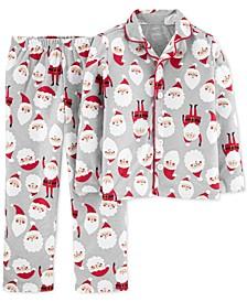 Little & Big Boys 2-Pc. Fleece Santa Pajamas Set