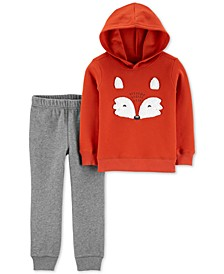 Baby Boys 2-Pc. Fox Fleece Hoodie & Joggers Set