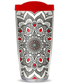 Boho Mandala Monoch Double Wall Insulated Tumbler, 16 oz