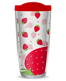 Strawberry Burst Double Wall Insulated Tumbler, 16 oz