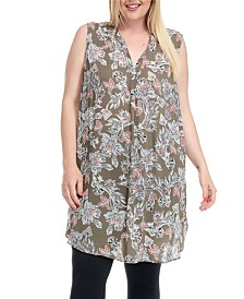 Fever Tunic Dress with Side Metal Buttons