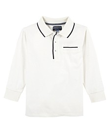 Baby Boy's Tipping Long Sleeve Polo