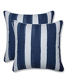 "Nico Stripe 16"" x 16"" Outdoor Decorative Pillow 2-Pack"