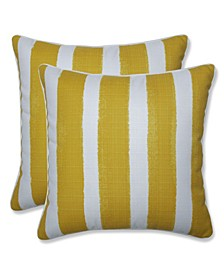 "Nico Stripe 18"" x 18"" Outdoor Decorative Pillow 2-Pack"