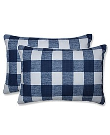 """Anderson Check 16.5"""" x 24.5"""" Outdoor Decorative Pillow 2-Pack"""