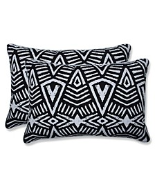 """Tribal Dimensions 16.5"""" x 24.5"""" Outdoor Decorative Pillow 2-Pack"""