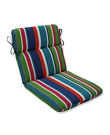 St. Lucia Stripe Rounded Corners Chair Cushion