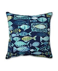 """Hooked 25"""" Outdoor Floor Pillow"""