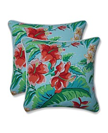 "Tropical Paradise 16"" x 16"" Outdoor Decorative Pillow 2-Pack"