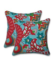 "Sophia Floral 18"" x 18"" Outdoor Decorative Pillow 2-Pack"