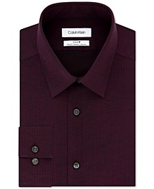 Men's Steel Slim-Fit Non-Iron Stretch Performance Print Dress Shirt