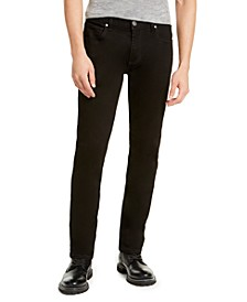 INC Men's Slim, Straight Deep Black Jeans, Created For Macy's