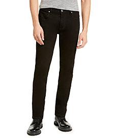 INC Men's Slim, Straight Deep Black Jeans, Created For Macy's