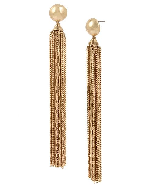 Robert Lee Morris Soho Bead Chain Tassel Earrings