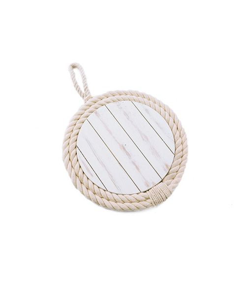 Thirstystone CLOSEOUT Mango Wood & Rope Trivet