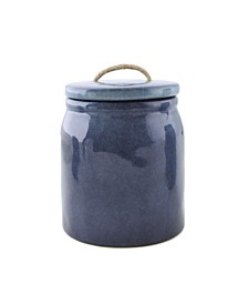 Thirstystone Blue Ceramic Canister with Rope Handle, Small