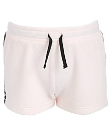 Little Girls Velour Tape-Trim Shorts, Created For Macy's
