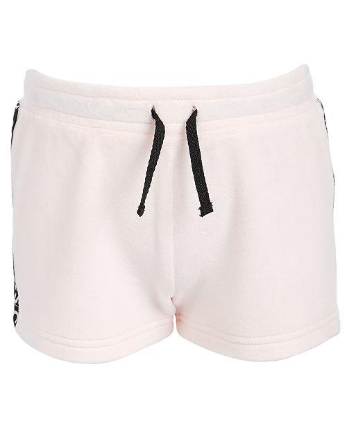 Ideology Little Girls Velour Tape-Trim Shorts, Created For Macy's