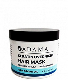 Adama Minerals Keratin Hair Mask, White Coconut with Argan Oil