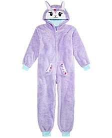 Big Girls 1-Pc. Hooded Faux-Fur Pajamas, Created For Macy's