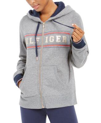 Zippered Logo Hoodie