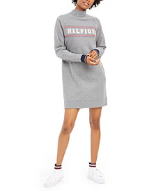 Mock-Neck Sweatshirt Dress