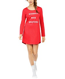 Printed Sleep Shirt and Sock Set, Created For Macy's