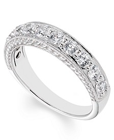 Certified Diamond (1 ct. t.w.) Engraved Band in 14k White Gold