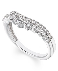 Diamond (1/2 ct. t.w.) Curved Double Row Band in 14K White Gold