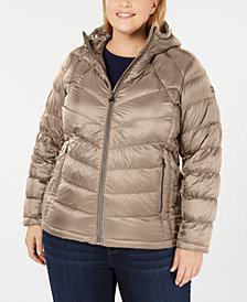 Michael Michael Kors Plus Size Packable Hooded Puffer Coat, Created for Macy's
