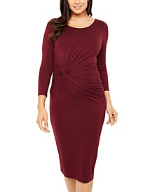Maternity Twist-Front Dress