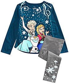 Little Girls 2-Pc. Frozen Sisters Forever T-Shirt & Leggings Set