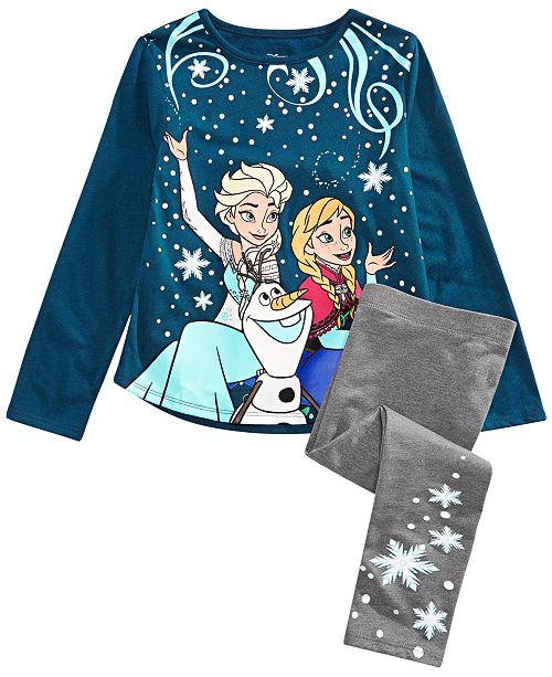 Evy of California Disney® Toddler Girls 2-Pc. Frozen Sisters Forever T-Shirt & Leggings Set