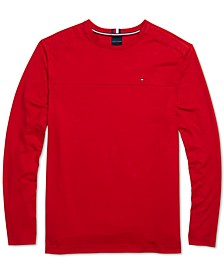 Men's Delancey Solid Long Sleeve T-Shirt with Magnetic Buttons at Shoulders