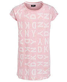 Big Girls Logo-Print Jacquard T-Shirt Dress