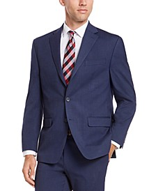 Men's Classic-Fit Medium Blue Solid Suit Jacket