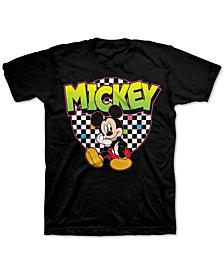 Disney Big Boys Mickey Mouse Checker Circle T-Shirt