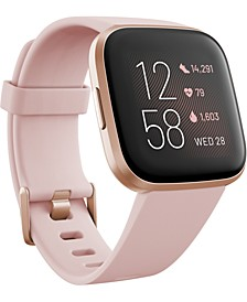 Versa 2 Rose Elastomer Strap Touchscreen Smart Watch 39mm