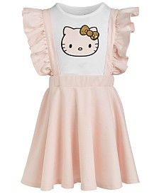 Hello Kitty Toddler Girls Plaid-Patch Sequin T-Shirt and Dress