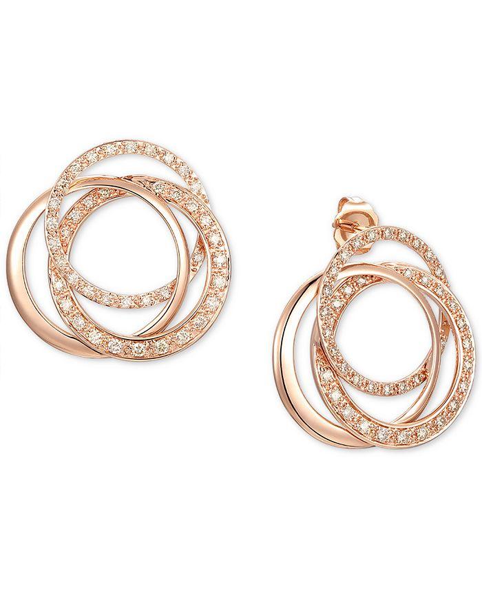 Le Vian - Nude Diamond Drop Earrings (5/8 ct. t.w.) in 14k Rose Gold