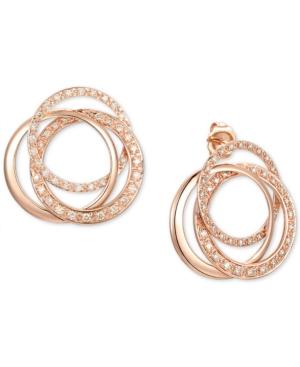 Nude Diamond Drop Earrings (5/8 ct. t.w.) in 14k Rose Gold