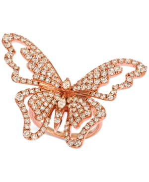Butterfly Away Nude Diamond Ring (2-3/4 ct. t.w.) in 14k Rose Gold