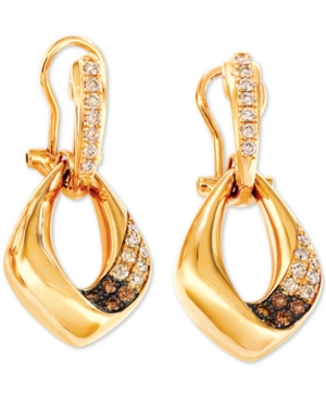 Diamond Drop Earrings (5/8 ct. t.w.) in 14k Gold