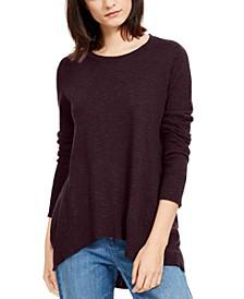High-Low Organic Sweater, Regular & Petite