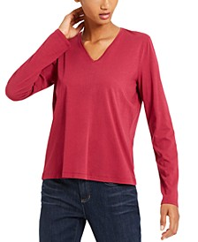 V-Neck Organic Cotton Top